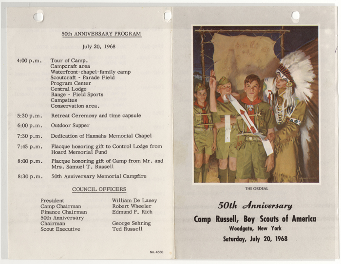camp russell 50th anniversary program 001